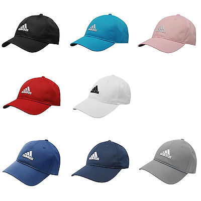 0d7ca459c4a Adidas Mens Sports Peak Cap Baseball Hat 3 Stripes Logo Adjustable Running  Golf